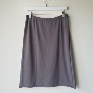 Eileen Fisher Knit Skirt Sz Small Taupe Purple